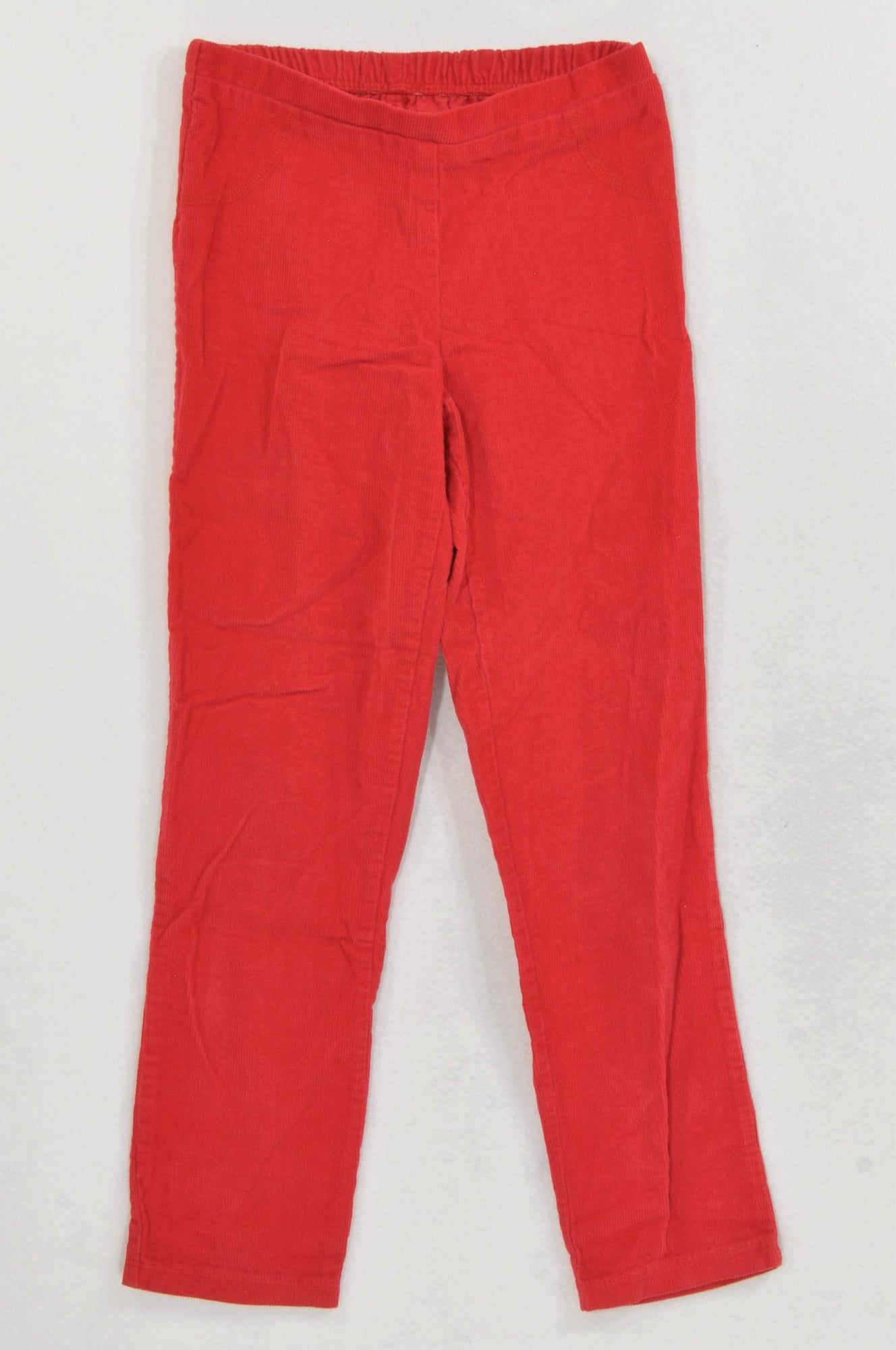 Woolworths Basic Red Corduroy Pants Girls 7-8 years