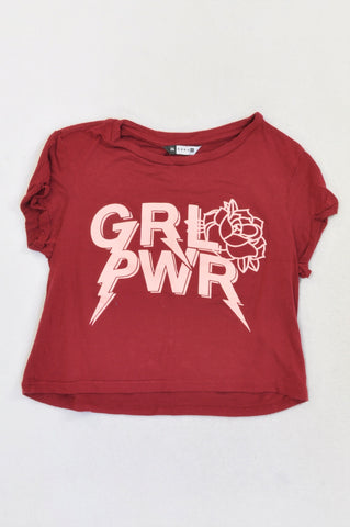 Soda Bloc Maroon Grl Pwr T-shirt Girls 15-16 years