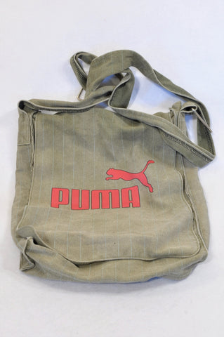 Puma Olive Textured Sling Bag Unisex 7-14 years