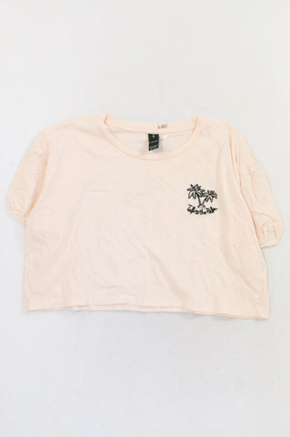 Factorie Pink Talk To The Palm Crop T-shirt Girls 15-16 years