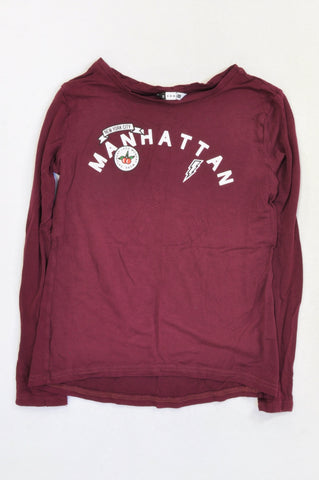 Soda Bloc Burgundy Manhattan Graphic T-shirt Girls 15-16 years