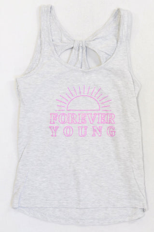 Woolworths Heathered Grey Forever Young Tank Top Girls 12-16 years or Women Size XS