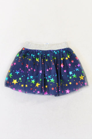 New Ackermans Navy Tulle Colorful Star Skirt Girls 0-3 months