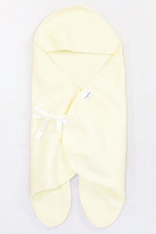 Snuggletime Soft Yellow Polar Fleece Swaddle Wrap Unisex N-B to 6 months