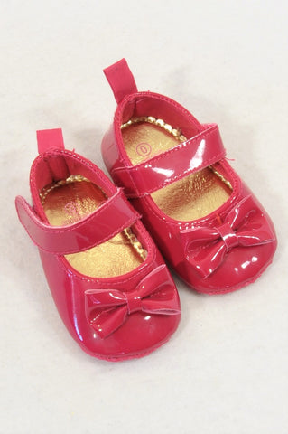 New Woolworths Size 0 Cerise Pink Mary Jane Shoes Girls 0-3 months
