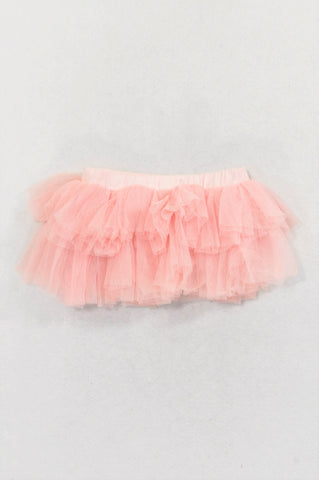 Naartjie Pink Tulle Layered Bloomer Skirt Girls 0-3 months
