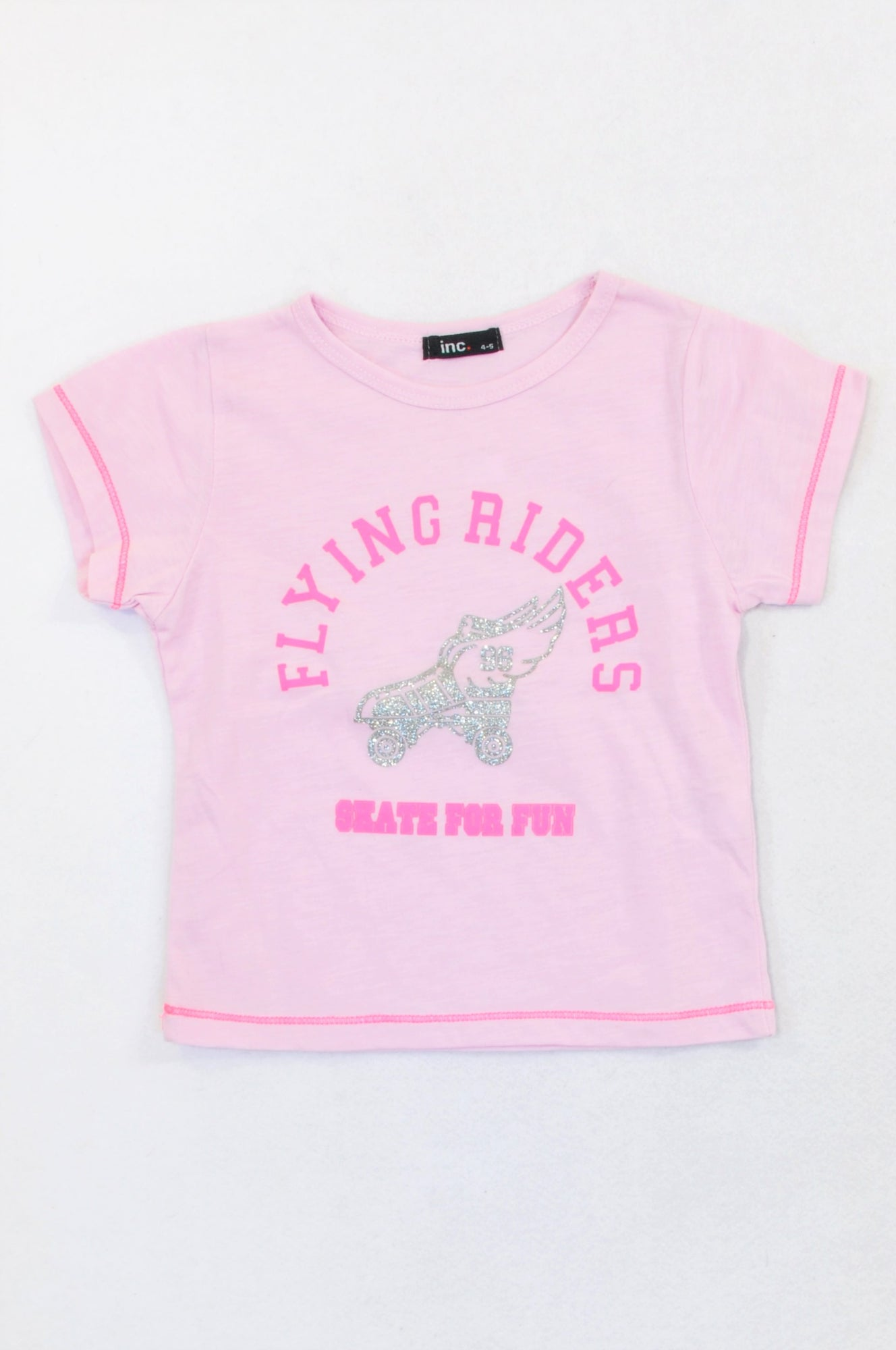 Inc. Pink Flying Riders T-shirt Girls 3-4 years