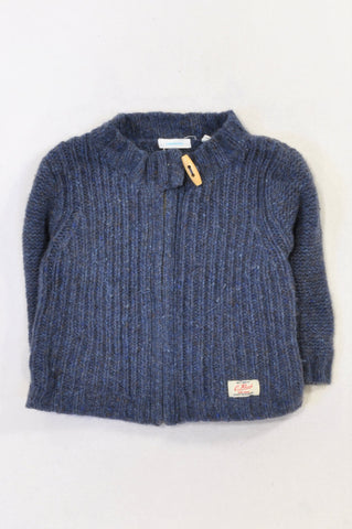 Country Road Navy Wool Knit Zip  Toggle Jersey Unisex 18-24 months