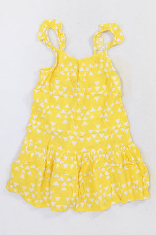 Woolworths Yellow Triangle Lightweight Dress Girls 5-6 years