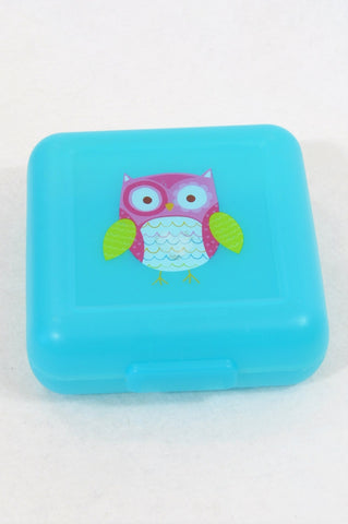 Unbranded Turquoise Owl Lunch Box Unisex All Ages