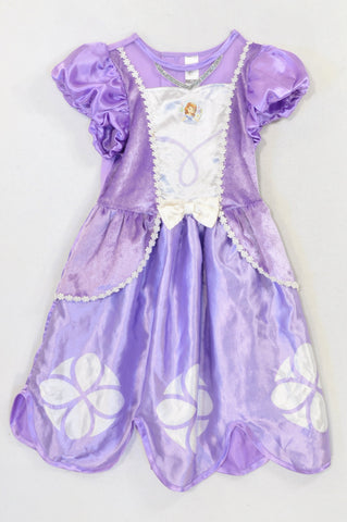 Disney Purple Sateen & Velvet Sofia Dress up Girls 4-5 years
