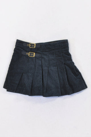 Ralph Lauren Navy Corduroy Belted Skirt Girls 2-3 years