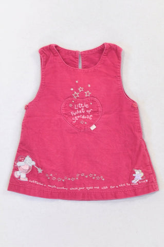 Mothercare Pink Embroidered Stardust Dress Girls 3-6 months