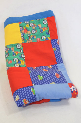 Unbranded Patchwork Transport Comforter Blanket Boys N-B to 2 years
