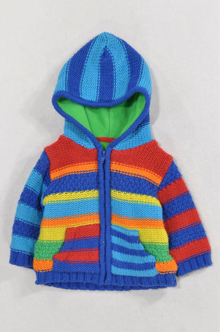 Woolworths Multi Color Knit Fleece Lined Jacket Unisex 3-6 months