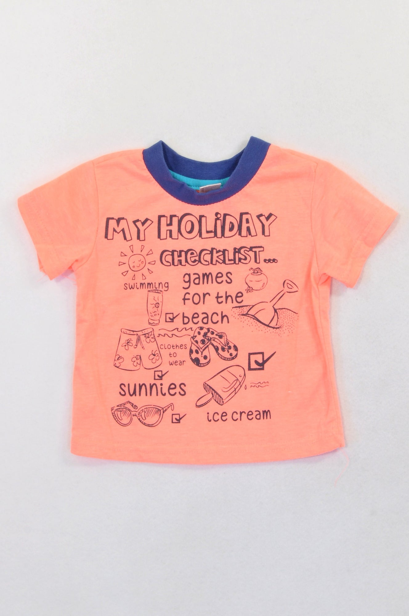 Ackermans Lumo Holiday Checklist T-shirt Unisex 3-6 months