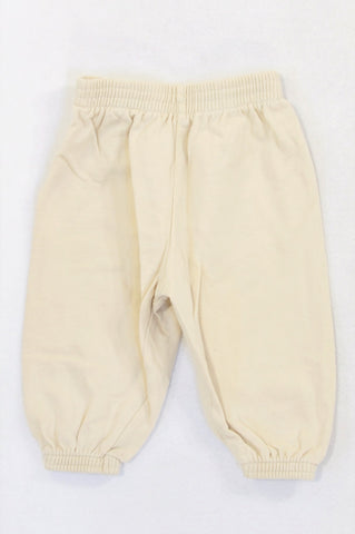 Woolworths Basic Beige Cuffed Track Pants Unisex 0-3 months
