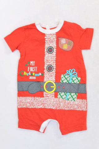 Woolworths Red First Christmas Santa Romper Unisex 3-6 months