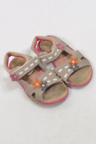 Ackermans Size 9 Dusty Grey Rugged Sandals Girls 3-4 years
