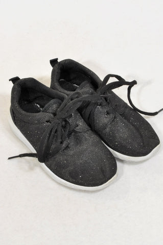 Pick 'n Pay Size 9 Black Glitter Shoes Girls 3-4 years
