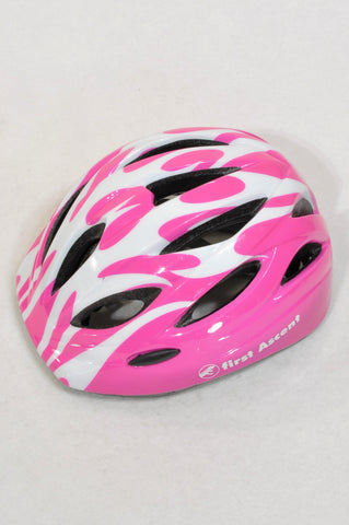 First Ascent Pink & White Sports Helmet Girls 1-5 years