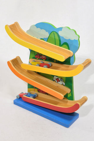 Unbranded Wooden Car Track With Cars Toys Unisex 2-6 years