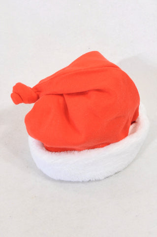 Woolworths Red Fleece Trim Christmas Beanie Unisex 3-6 months
