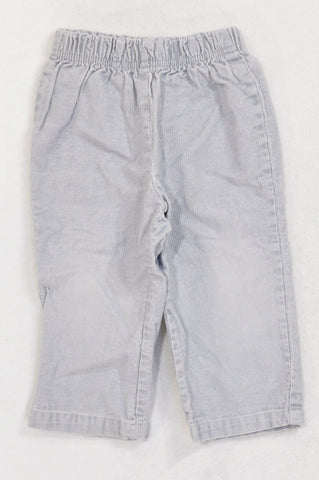 Ackermans Basic Soft Grey Corduroy Pants Unisex 18-24 months