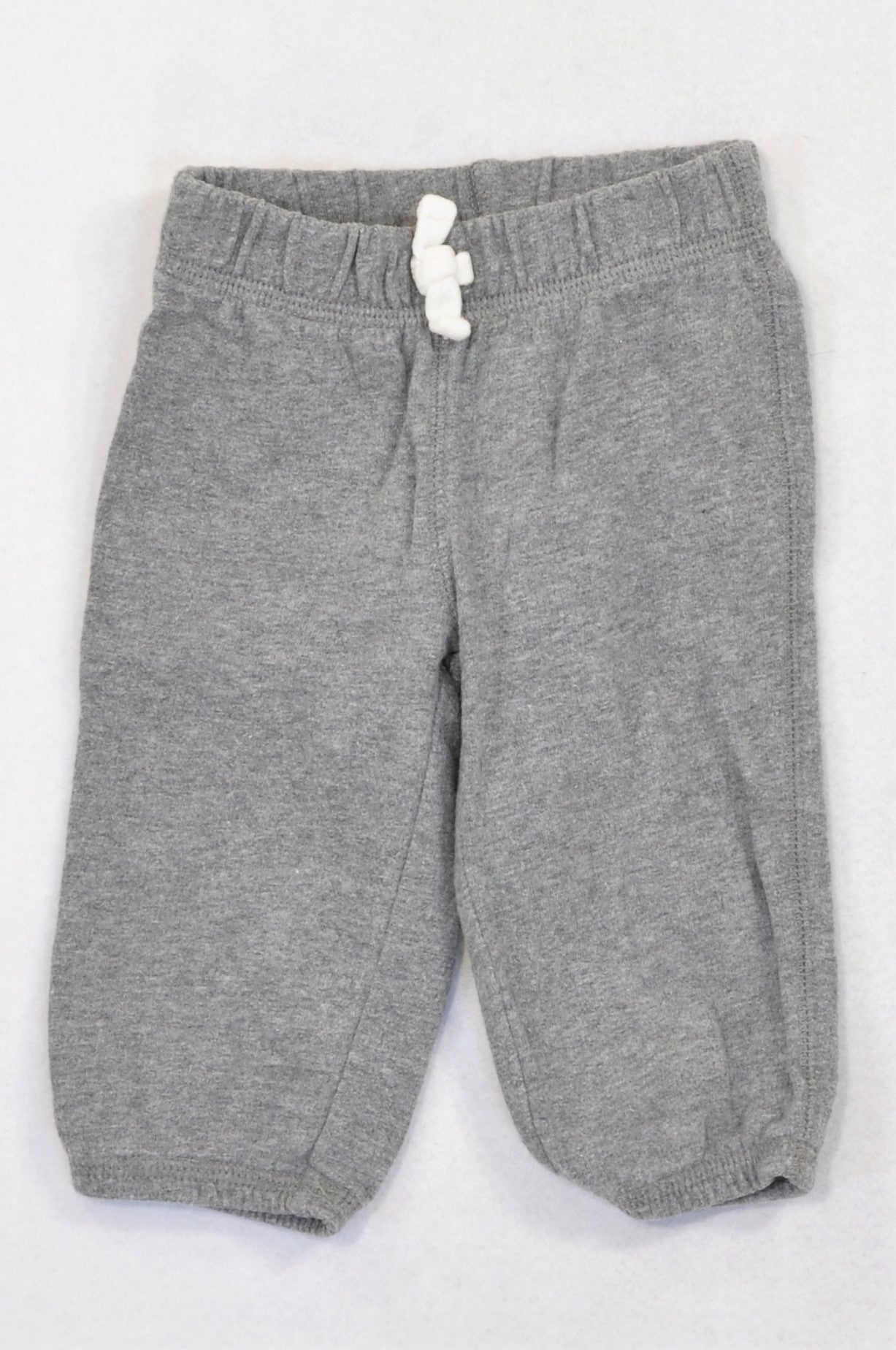 Carter's Heathered Grey Cuffed Track Pants Boys 3-6 months