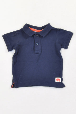 Target Basic Navy Golf Shirt Boys 3-6 months