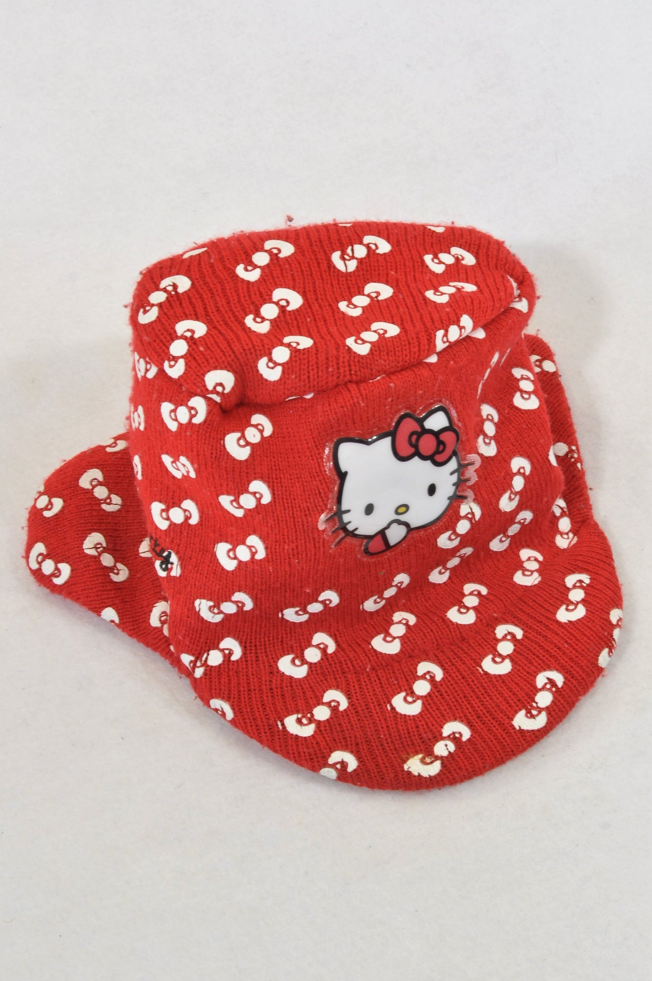 Woolworths Red Knit Bow Cap Beanie Girls 1-3 years