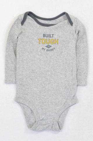Carter's Heathered Grey Built Tough Baby Grow Boys 3-6 months