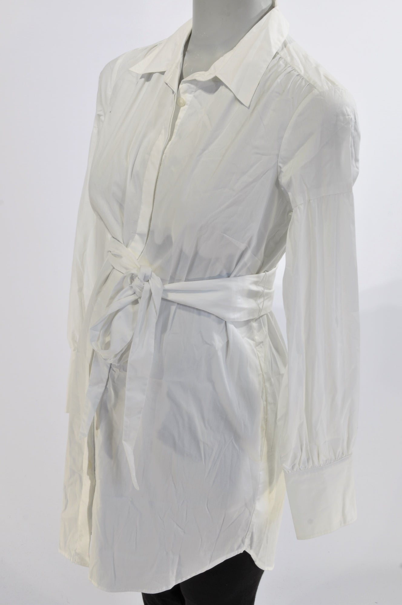 Oasis Basic White Tie Tunic Maternity Blouse Size 14
