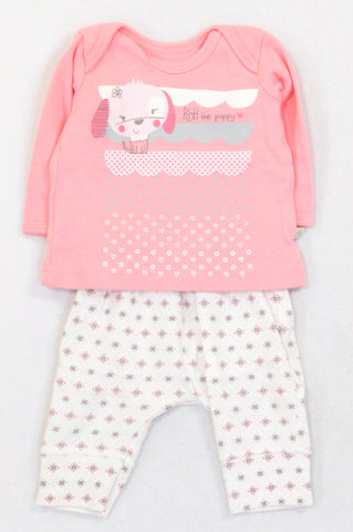 Woolworths Pink Posh The Puppy Geometric Outfit Girls N-B