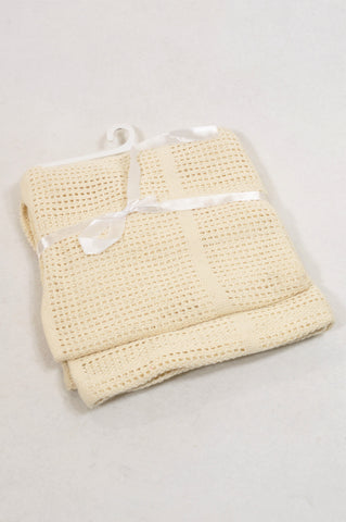 New Unbranded Beige Crochet Blanket Unisex N-B to 2 years