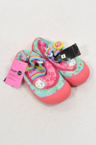 3df24d644 New Woolworths Size 7 Pink Hello Kitty Rubber Sole Shoes Girls 2-3 years