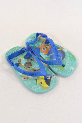 Havaianas Size 6 Nemo Under The Sea Sandals Unisex 18 months to 3 years