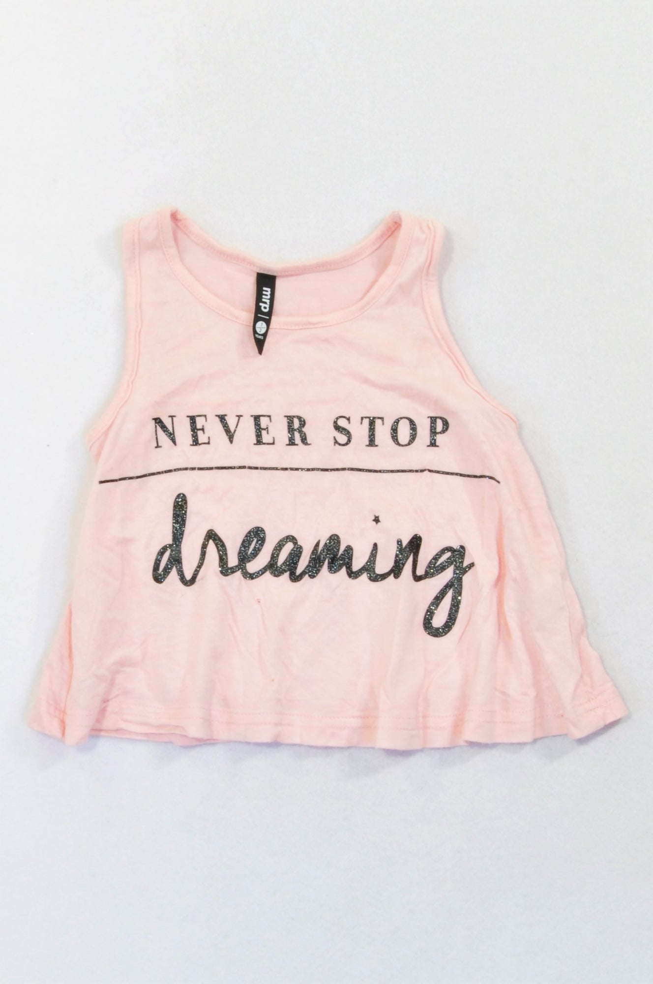 Mr. Price Pink Lightweight Never Stop Dreaming Tank Top Girls 1-2 years