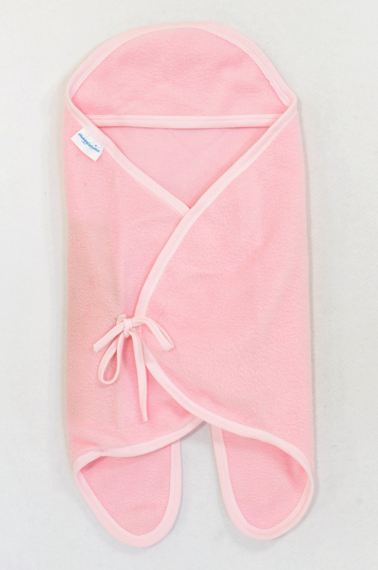 Snuggletime Pink Fleece Swaddle Wrap Girls N-B to 6 months