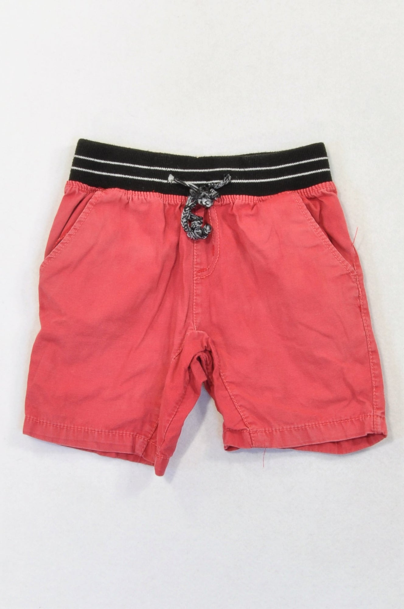 Ackermans Red Banded Shorts Girls 12-18 months