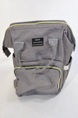 Pyeta Grey Waterproof Backpack Nappy Bag Unisex N-B to 2 years