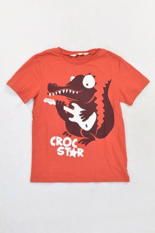 H&M Orange Croc Star T-shirt Boys 6-8 years
