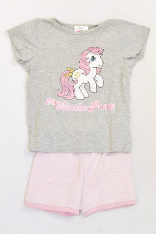 Cotton On Grey & Pink My Little Pony Summer Pyjamas Girls 4-5 years