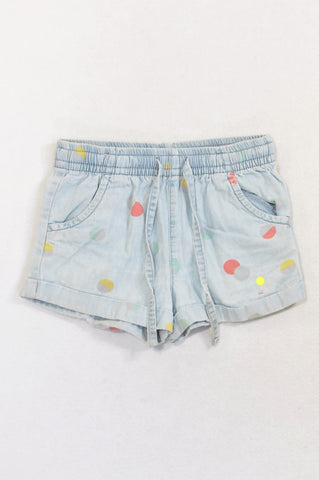 Woolworths Denim Color Dotty Shorts Girls 5-6 years