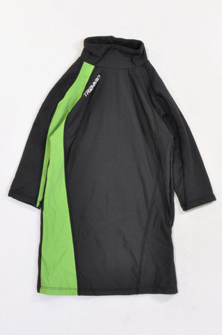 Tribord Black & Green Padded Rash Vest Unisex 6-8 years