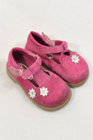 Grafeeti Size 5 Pink Suede Leather Daisy Sandals Girls 18-24 months