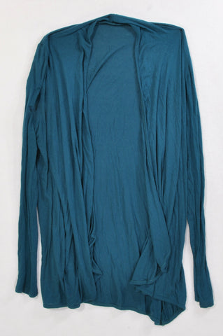 Unbranded Basic Teal Waterfall Cardigan Women Size M