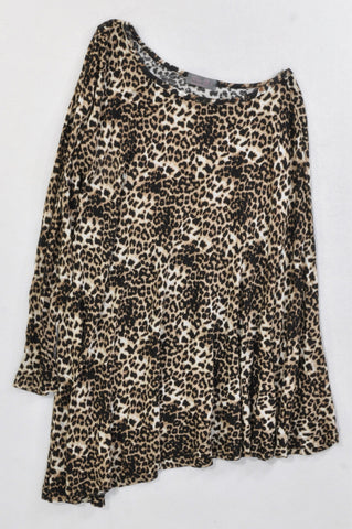 Unbranded Leopard Print Single Sleeve T-shirt Women Size S