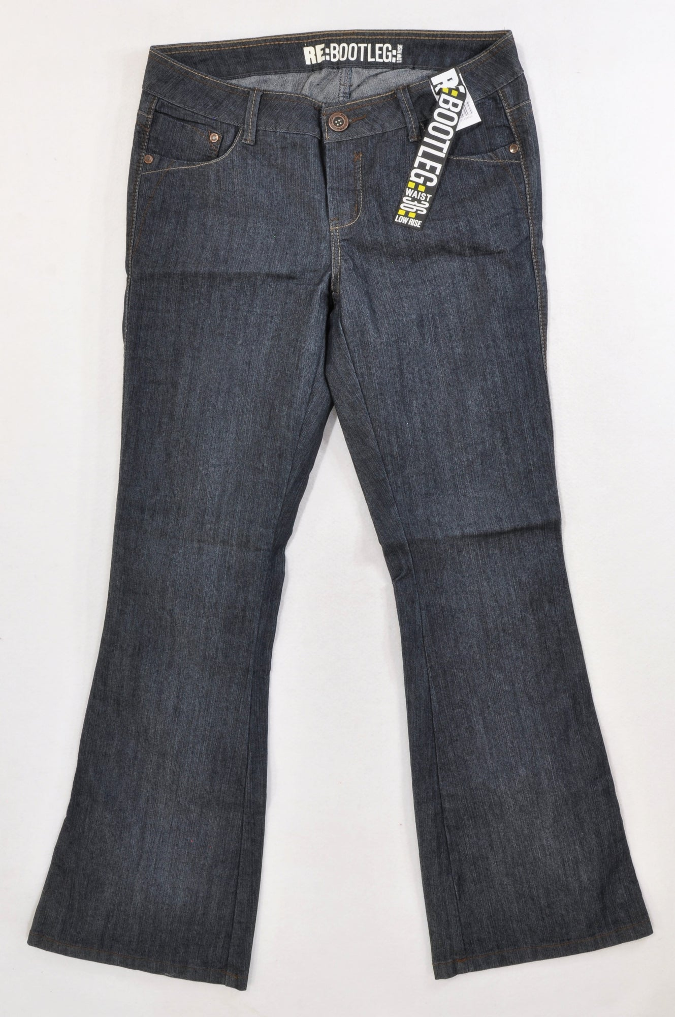 New Woolworths Dark Wash Bootleg Low Rise Jeans Women Size 36