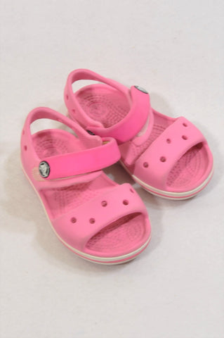 Crocs Size 5 Pink Sandals Girls 2-3 years